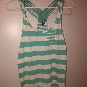 Blue and white tank top!
